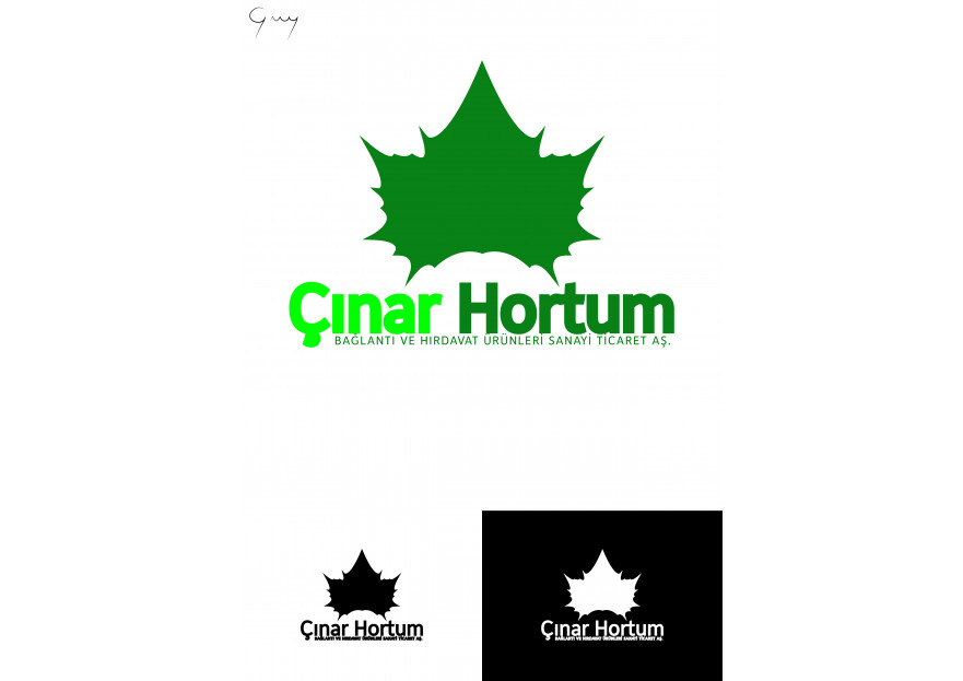 ÇINAR HORTUM LOGO VE KURUMSAL TASARIM yarışmasına tasarımcı gunaydurak tarafından sunulan  tasarım