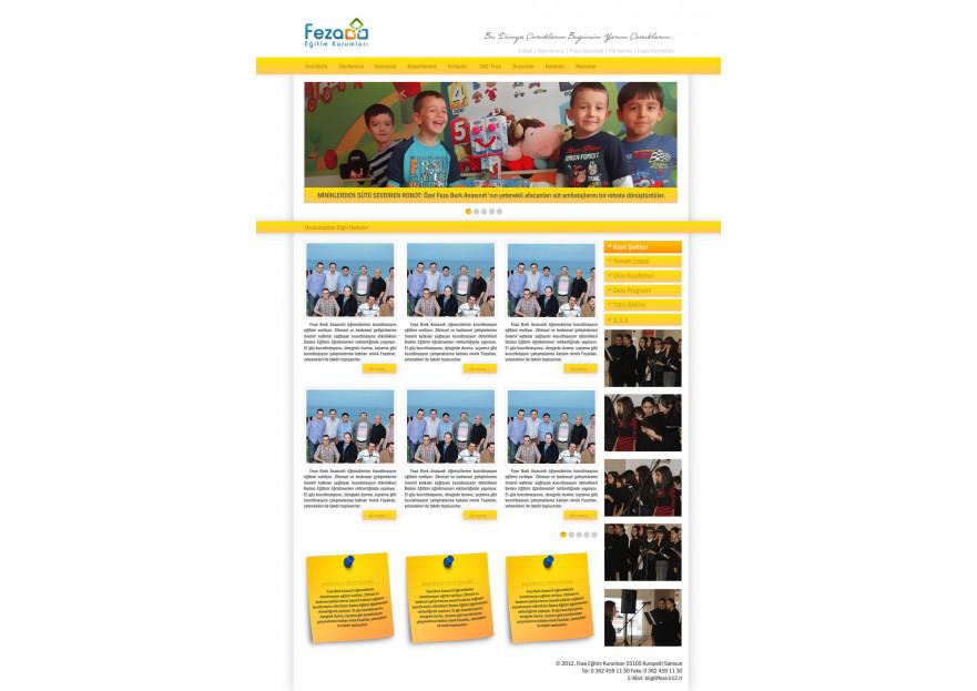 Özel Okul Web Sitesi yarışmasına tasarımcı m_e_c tarafından sunulan  tasarım